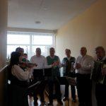 Pirkėjus linksmino šaunūs kapelos muzikantai